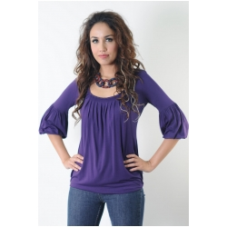 Annee Matthew Jenna Bubble Top in Bamboo