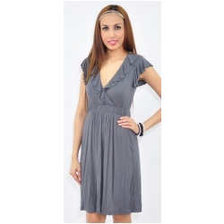 Kate dress in dark grey by Annee Matthew