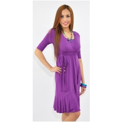 Annee Matthew Evita Wrap Dress in Bamboo