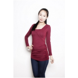 Annee Matthew Double Rouche Top in Bamboo