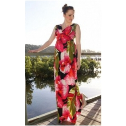 Hawaiian Maxi Maternity Dress